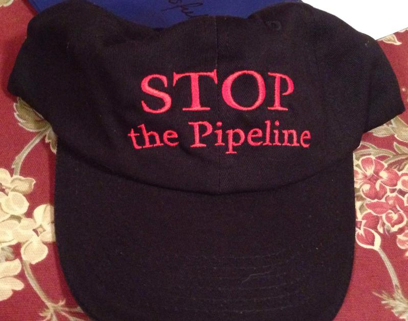 "This is a picture of a hat reading ""STOP the Pipeline"" that were handed out by the group Sandisfield Taxpayers Opposing the Pipeline."