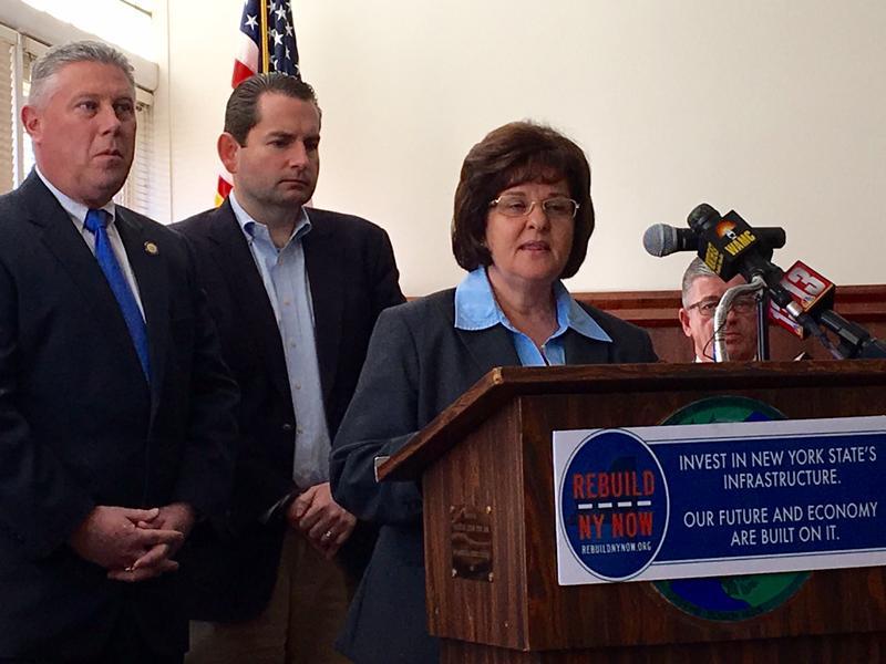 Assemblyman John McDonald, Mike Elmendorf with Rebuild NY Now & Senator Kathy Marchione