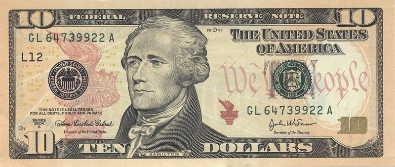 $10 bill