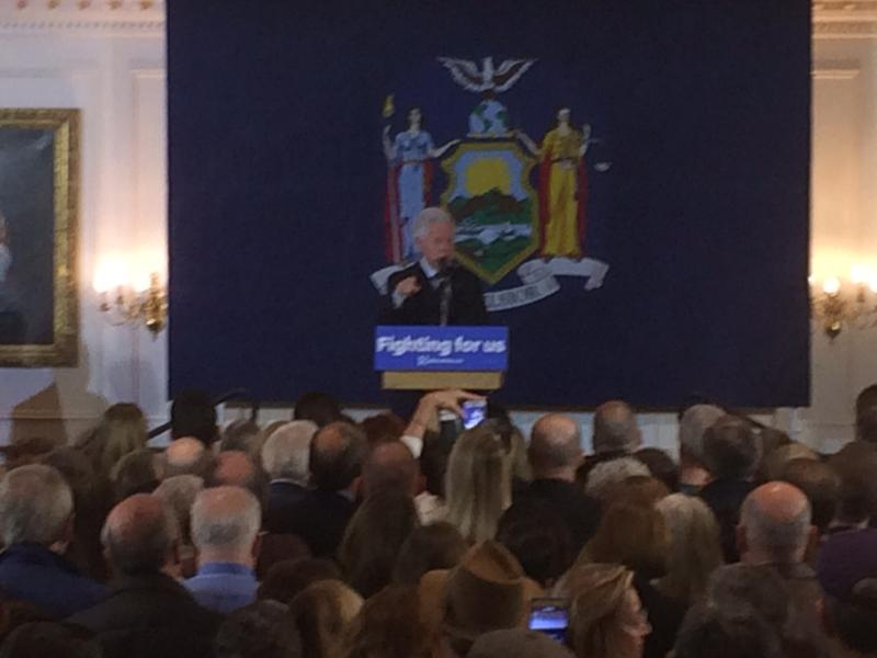 Bill Clinton in Albany
