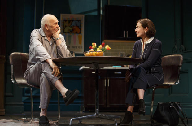 Frank Langella and Hannah Cabell in the American premiere of The Father at the Samuel J. Friedman Theatre.