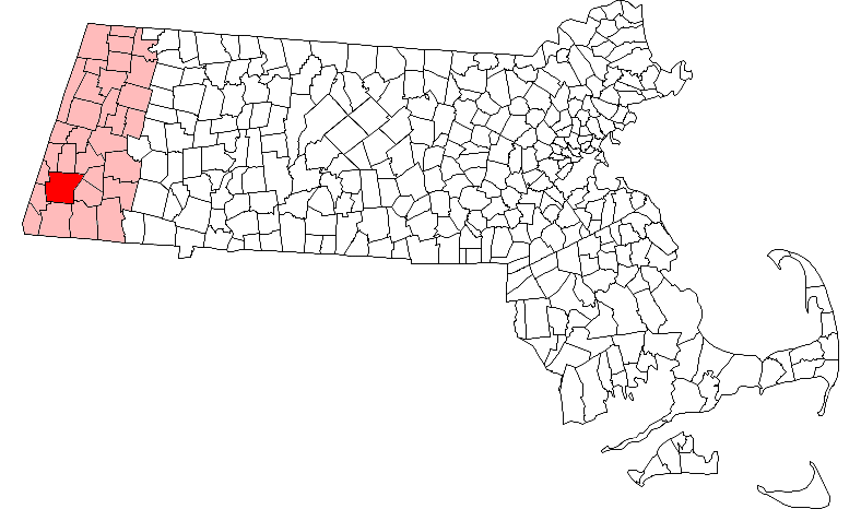 This is a map highlighting Great Barrington, Massachusetts