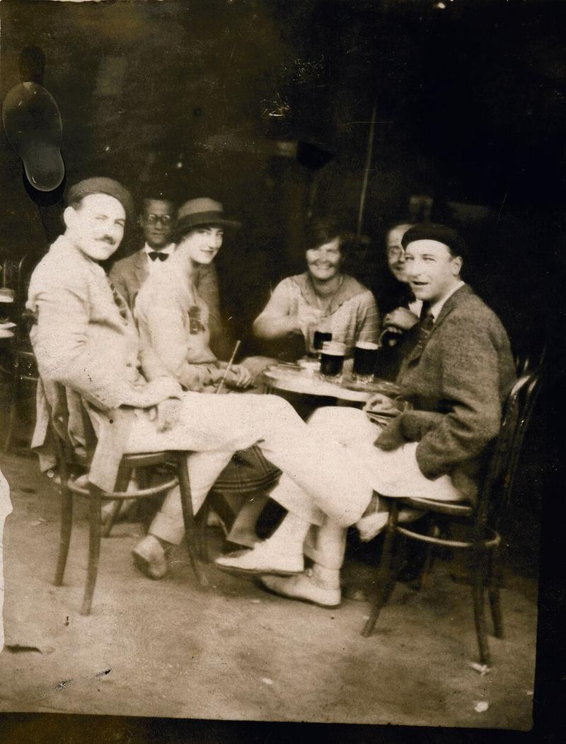 "Ernest Hemingway and members of the ""Lost Generation"""