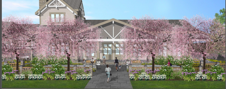 A rendering of the Lenox Manor Hotel and Event Center