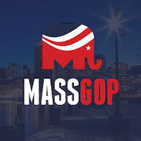 Thi is the logo of the Massachusetts Republican Party