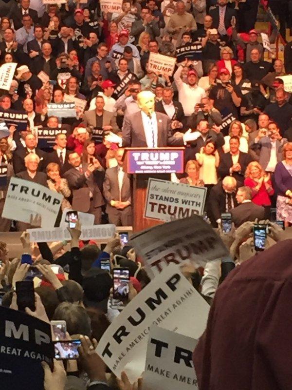 Donald Trump in Albany