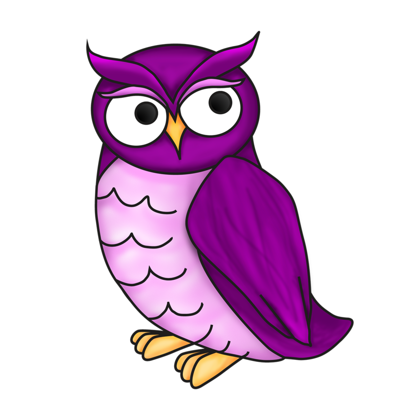 purple owl - logo for Excelsior College's Online Writing Lab