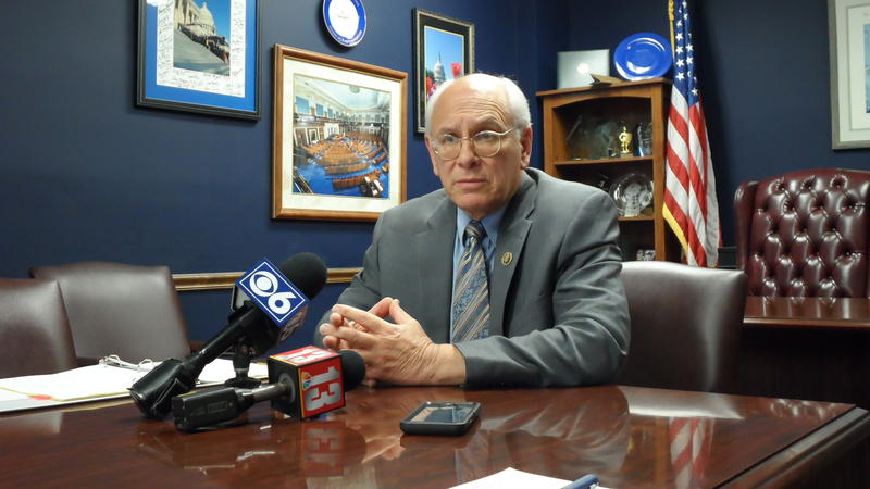 Congressman Paul Tonko discusses the Zika funding crisis in his Albany office on May 1, 2016.