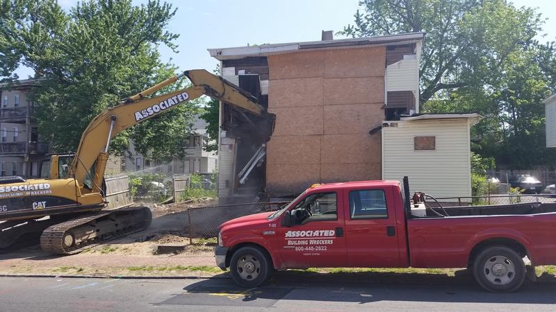 a blighted house is demolished