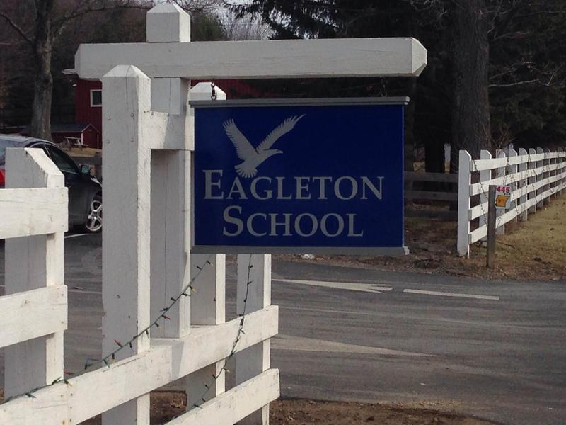 This is a picture of an Eagleton School sign