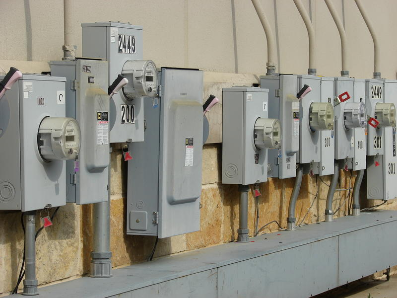 This is a picture of a electricity meters