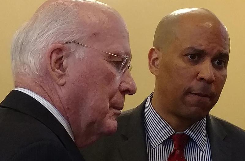 Vermont Senator Patrick Leahy and New Jersey Senator Cory Booker
