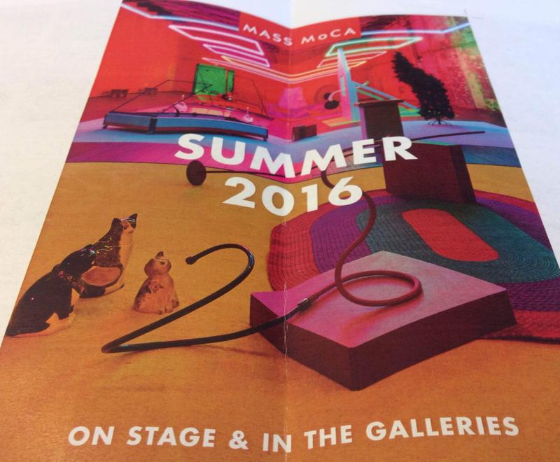 This is flyer for MASS MoCA's Summer 2016 season