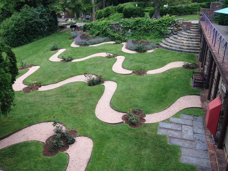 The Rose Garden at The Trustees of Reservations' Naumkeag in Stockbridge, Massachusetts.