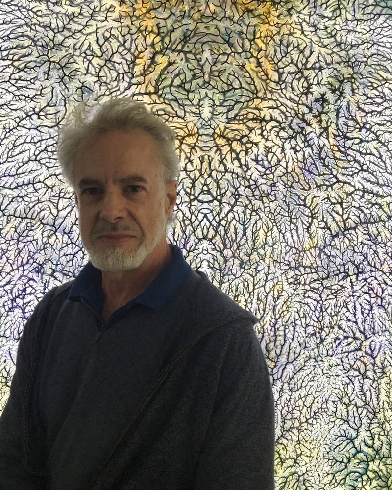 Peter Bynum in his studio
