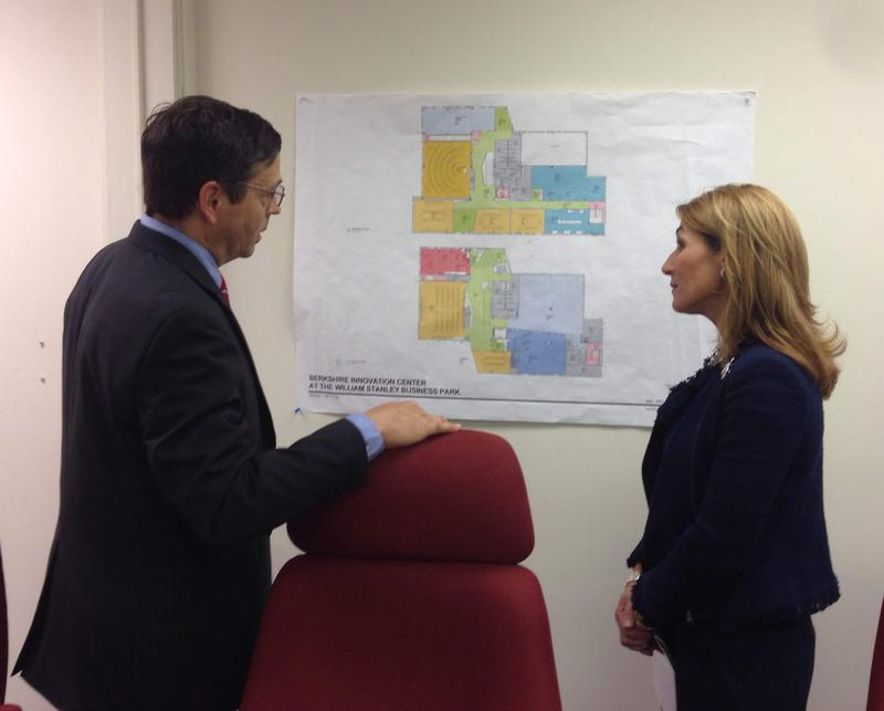 Massachusetts Lieutenant Governor Karyn Polito with Berkshire Innovation Center project manager Rod Jane.