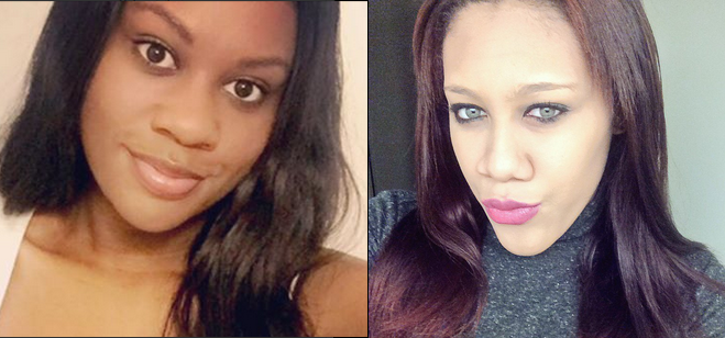 Photos of Asha Burwell and Ariel Agudio posted on social media.