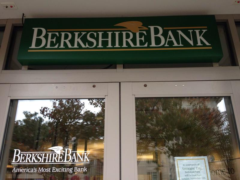 A door to a Berkshire Bank branch