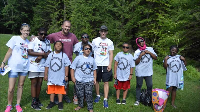 Children and counsellors at Camp Courage