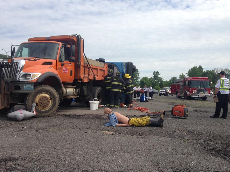 Northern Berkshire emergency agencies practice their mass casualty response.