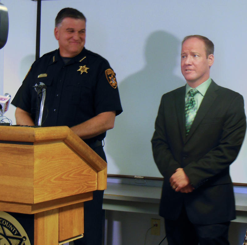 Sheriff David Favro (left) and Aaron Heroux