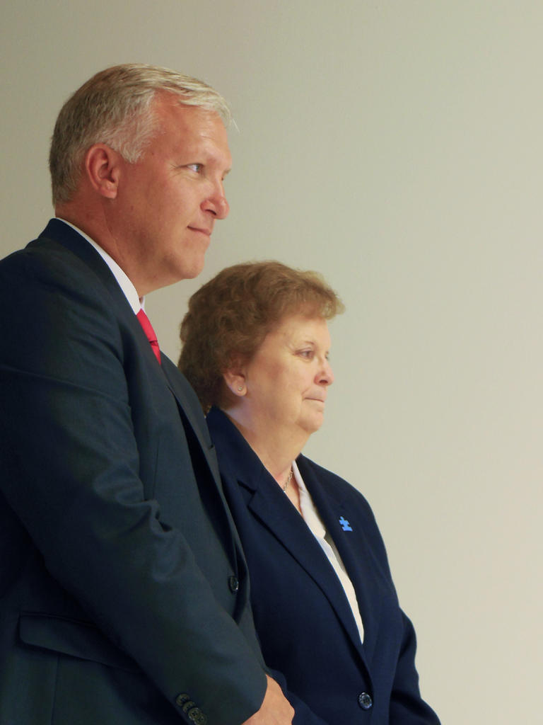 Kevin Mulverhill (left) with Assemblywoman Janet Duprey