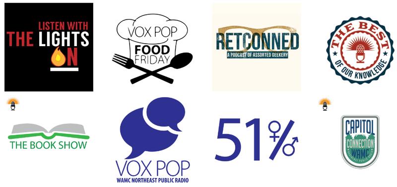 8 WAMC Podcast logos