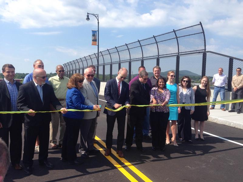 City and state officials cut the ribbon on Pittsfield's Woodlawn Avenue Bridge Monday.