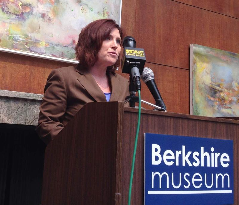 SABIC's Brenda Petell announced the donation at the Berkshire Museum.