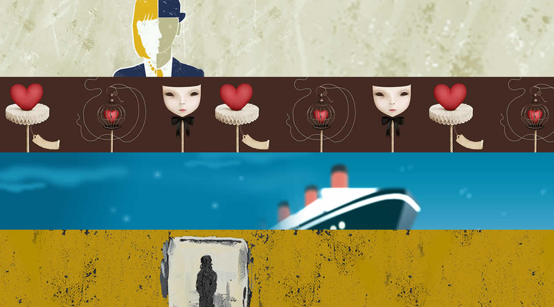 Artwork for 4 plays at Shakespeare&Company