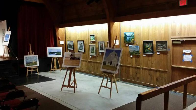 Some of the 100 pieces of art on display at the Southern Vermont Arts Center.