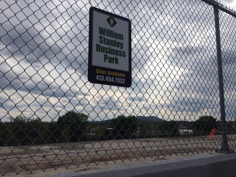A sign outside the William Stanley Business Park in Pittsfield, Massachusetts.
