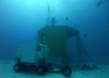 The Project NEEMO site and rover.