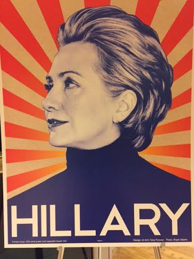 Hillary Clinton campaign poster