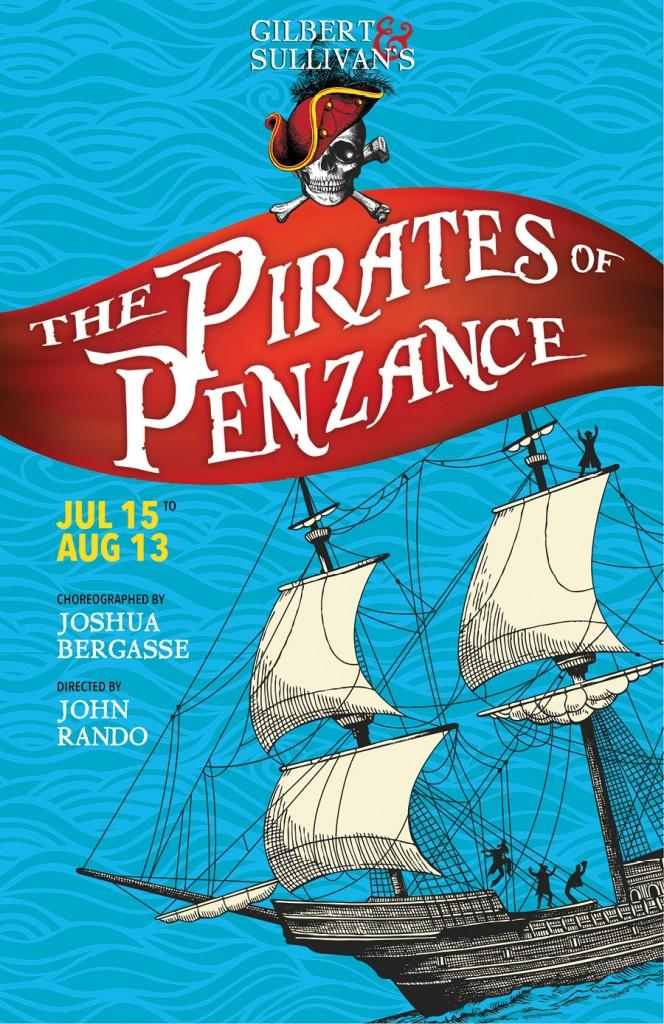 Poster for The Pirates of Penzance at Barrington Stage