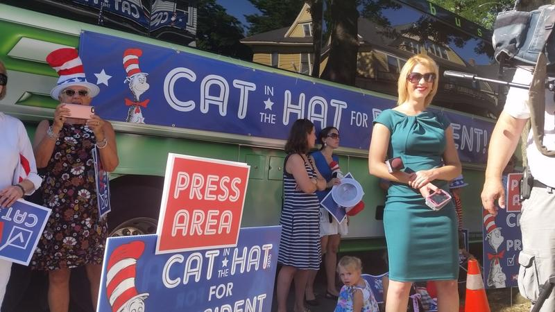 Even the Cat in the Hat's campaign wants to keep the media in place