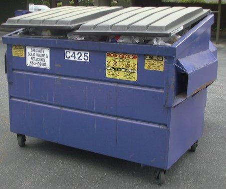 This is a picture of a dumpster