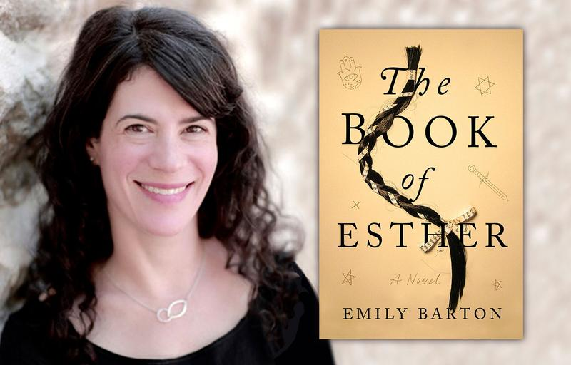Emily Barton and book cover - The Book of Esther