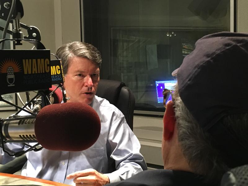 Rep. John Faso speaking with WAMC's Alan Chartock.
