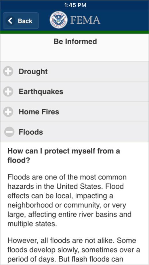 FEMA app Safety Tips