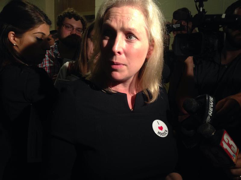 Sen. Gillibrand in Hoosick Falls Friday.
