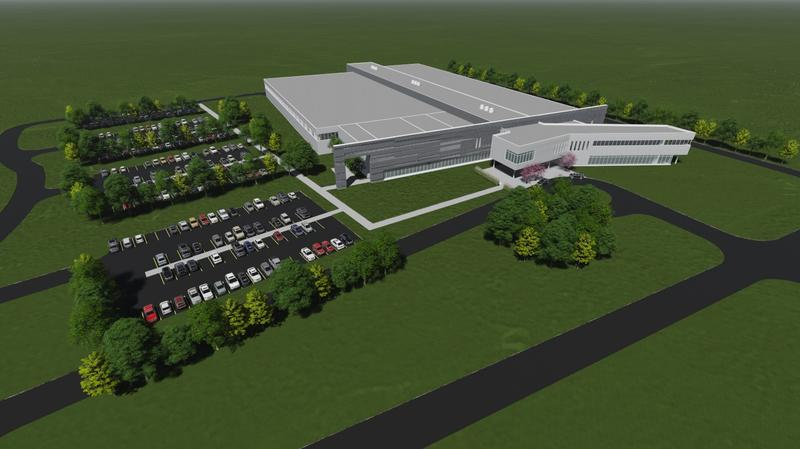 Rendering of planned Plattsburgh manufacturing plant