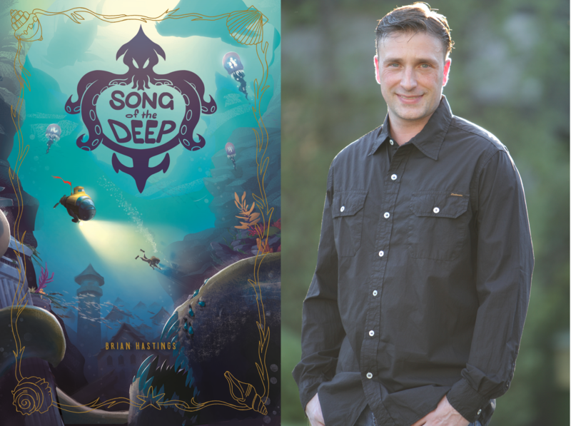 Song of the Deep composite image with Author Brian Hastings