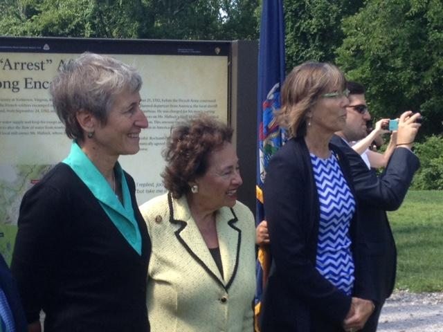 U.S. Interior Secretary Sally Jewell (left), Congresswoman Nita Lowey (center), NYS Parks Commissioner Rose Harvey