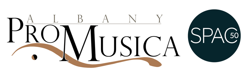 Albany Pro Musica and SPAC 50 logos