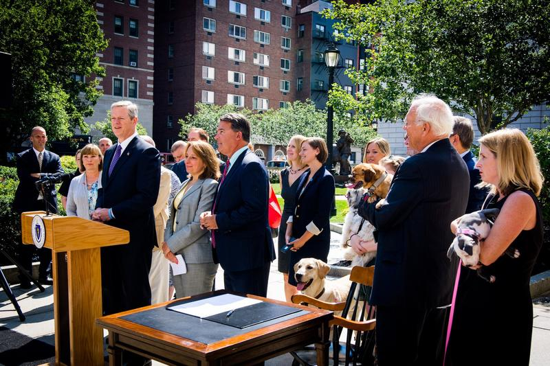 Massachusetts Governor Charlie Baker signed the law Wednesday.