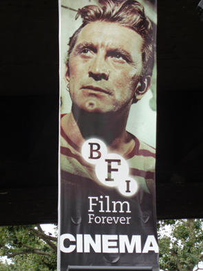 BFI banner featuring Kirk Douglas