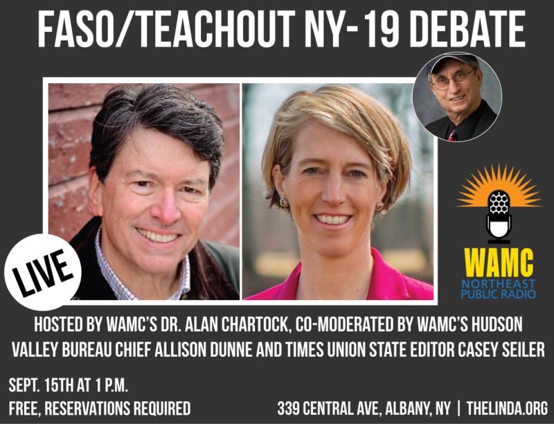 A graphic of the NY-19 debate set for Sept. 15