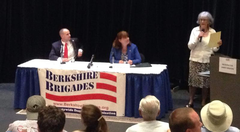 The Berkshire Brigades sponsored the debate between Mike Bloomberg and Tricia Farley-Bouvier at Berkshire Community College.