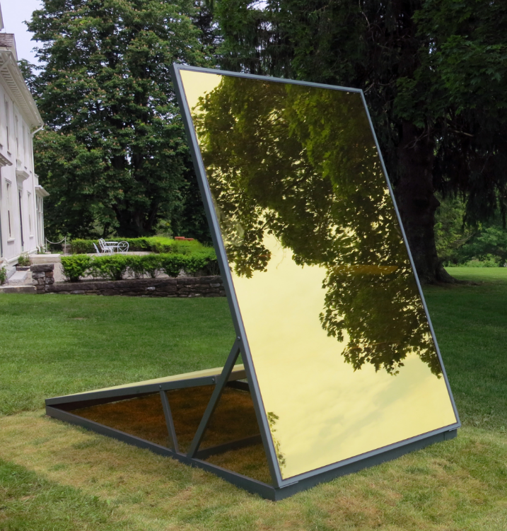 Earth/Sky, 2016. glass and metal, 102 x 120  x 61 inches (in situ at Chesterwood grounds; Stockbridge, MA)